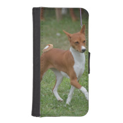iPhone 5/5s Wallet Case with Basenji Phone Cases design