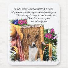 Basenji Lovers Art Gifts mousepad