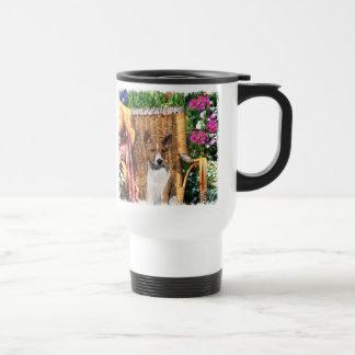 Basenji Lovers Art Gifts 15 Oz Stainless Steel Travel Mug