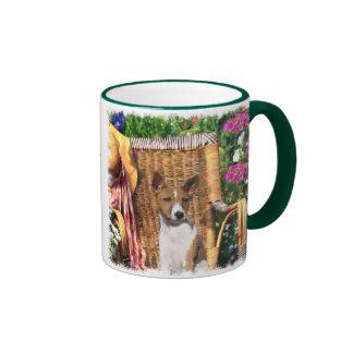 Basenji Lovers Art Gifts Ringer Coffee Mug