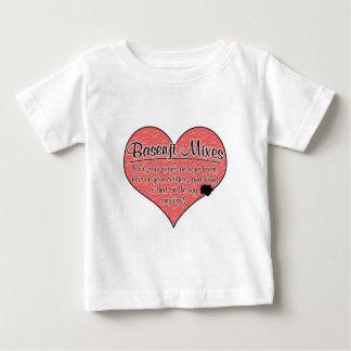 Basenji Mixes Paw Prints Dog Humor Tee Shirt