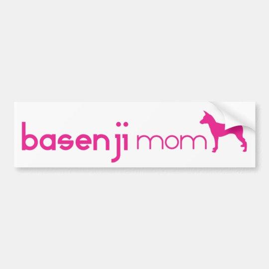 Basenji Mom Bumper Sticker