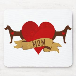 Basenji Mom [Tattoo style] Mouse Pad