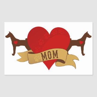 Basenji Mom [Tattoo style] Rectangular Sticker