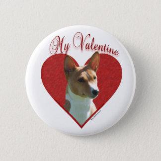 Basenji My Valentine - Button
