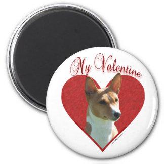 Basenji My Valentine  -  Magnet