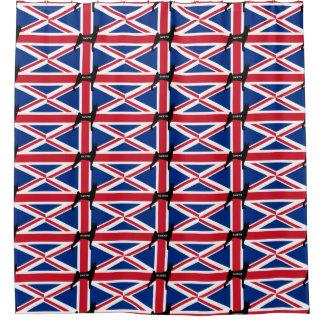 basenji name silhouette england United_Kingdom fla Shower Curtain