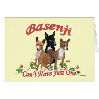 Basenji no puede tener regalos apenas uno tarjeta de felicitación