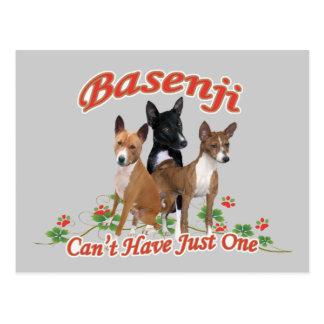 Basenji no puede tener regalos apenas uno tarjetas postales