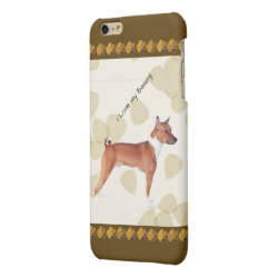 Case Savvy iPhone 6 Plus Glossy Finish Case with Basenji Phone Cases design