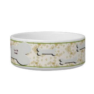 Basenji on Tan Leaves Pet Food Bowls