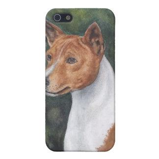 basenji pedigrí del caso del iPhone del perro iPhone 5 Carcasa