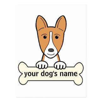 Basenji personalizado postal
