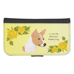Samsung Galaxy S4 Wallet Case with Basenji Phone Cases design