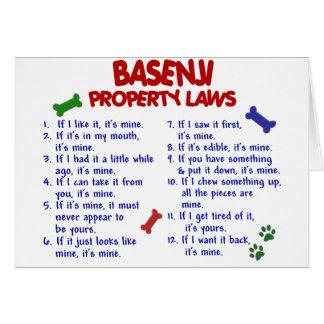 BASENJI Property Laws 2 Card