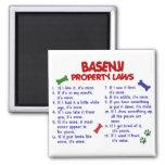 BASENJI Property Laws 2 Fridge Magnets