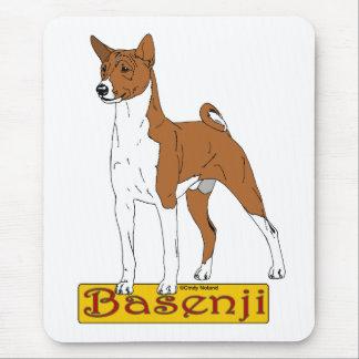 Basenji - Red Mouse Pad