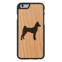 Carved ® iPhone 6 Bumper Wood Case with Basenji Phone Cases design