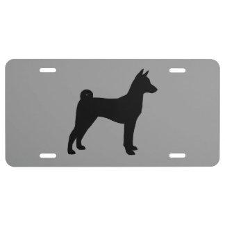 Basenji Silhouette License Plate