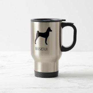Basenji Silhouette Travel Mug