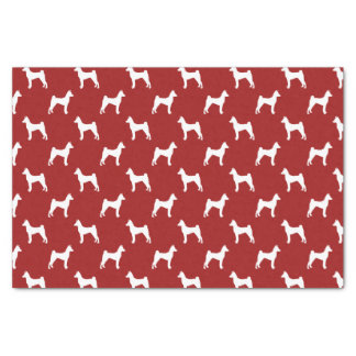 Basenji Silhouettes Pattern Red Tissue Paper