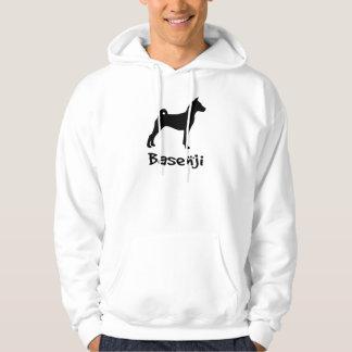 Basenji w/ Cool Text (in black) Hoody