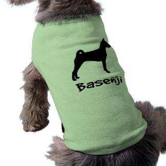 Basenji w/ Cool Text (in black) Tee
