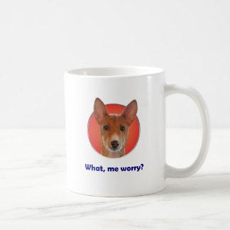 Basenji worry coffee mug