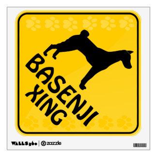 Basenji Xing Wall Sticker