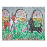 Basenjis at the Beach Art Poster