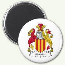 Basham Family Crest Magnet