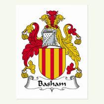 Basham Family Crest Postcard