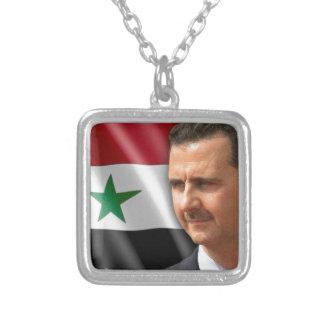 Bashar al-Assad بشار الاسد Silver Plated Necklace