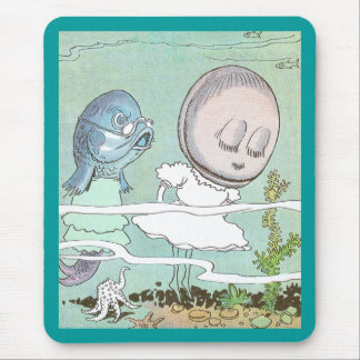 Bashful Clam Scolded by Fish Mouse Pad