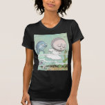 Bashful Clam Scolded by Fish T-shirt