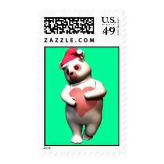 Bashful Holiday Lovey Bear Stamps