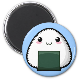 Bashful Onigiri 2 Inch Round Magnet