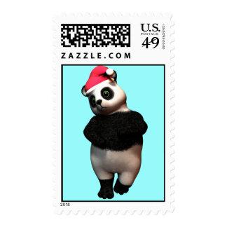 Bashfull Holiday Panda Bear Stamp