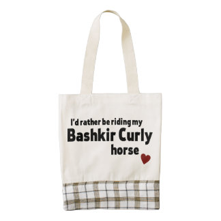 Bashkir Curly horse Zazzle HEART Tote Bag