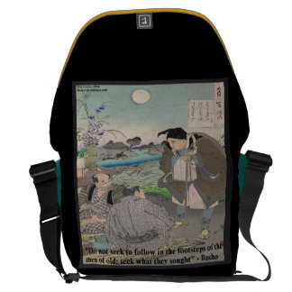 Basho & Famous Quote Large Messenger Bag