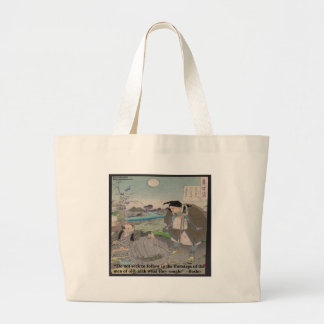 Basho & Famous Quote Large Tote Bag