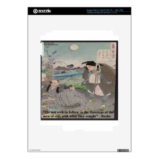 Basho & Famous Quote iPad 3 Decals