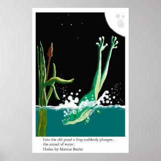 Basho's frog haiku print