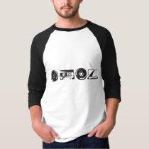 Basic 3/4 Sleeve Raglan - Black logo T-Shirt