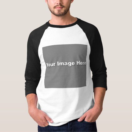 Basic 3 4 sleeve raglan template tee shirt zazzle for 3 4 sleeve shirt template