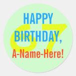 [ Thumbnail: Basic 67th Birthday Sticker ]