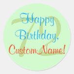 [ Thumbnail: Basic 72nd Birthday Sticker ]