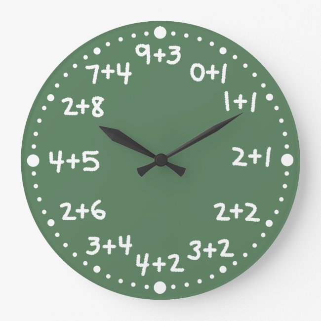 Basic Addition Fun Mathematical Arithmetic Clock