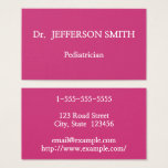 Basic and Elegant Pediatrician Business Card