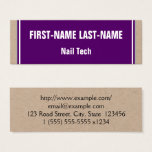 Basic and Minimalist Nail Tech Business Card